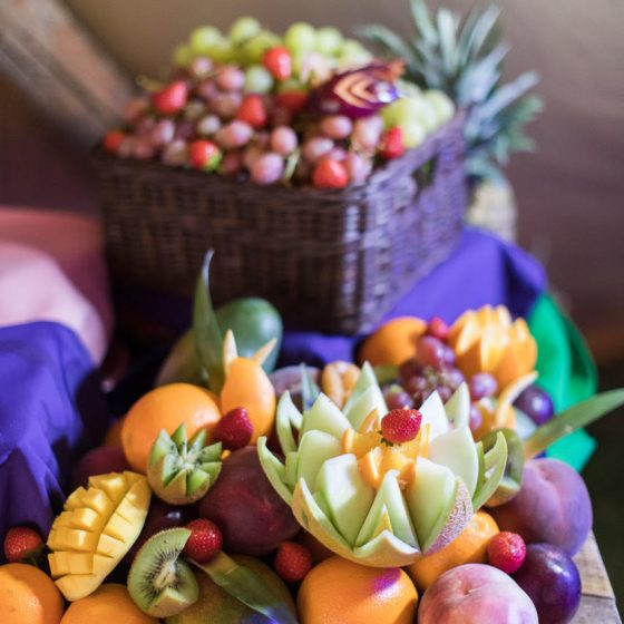 Ruba Restaurant - Catering with Ruba - Our Catering Fruit Display and Carving 5