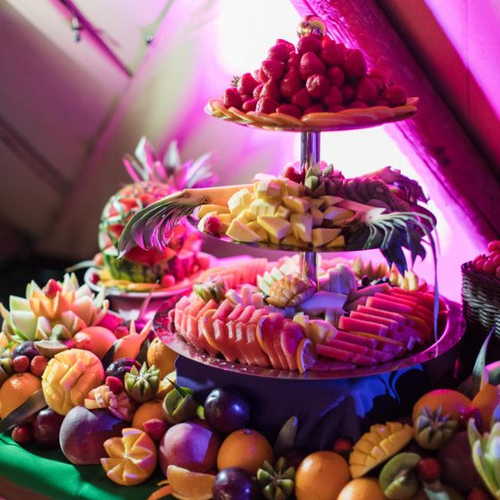 Ruba Restaurant - Catering with Ruba - Our Catering Fruit Display and Carving