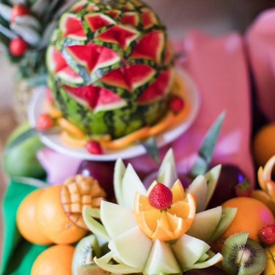 Ruba Restaurant - Catering with Ruba - Our Catering Fruit Display and Carving 6